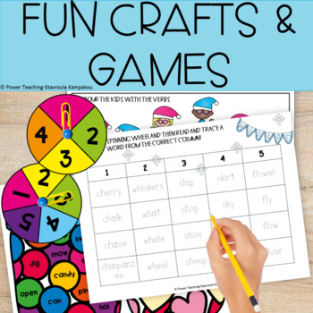 Winter Fun Literacy Packet for 1st Grade