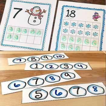 Winter Math and Literacy Centers {Kindergarten}