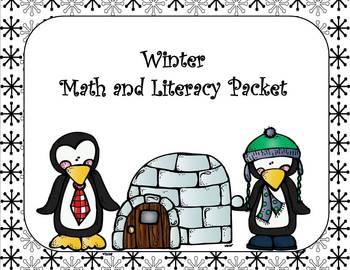 Winter Fun Literacy and Math Packet