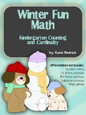 Winter Themed Number Charts, Ten's Frames, Five's Frames, Subitzing, and Bingo