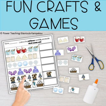 Winter Fun Math Packet (CCSS aligned)+answer key