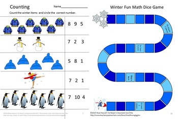Winter Math Centers Kindergarten Morning Work, Special Education Math