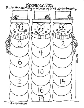 Winter Math Worksheets For Kindergarten Fun