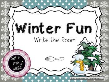 """Winter Fun -- Melodic Reading """"Write the Room"""" {sol mi}"""