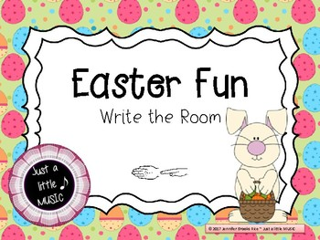 """Easter Fun -- Melodic Reading """"Write the Room"""" {sol mi}"""