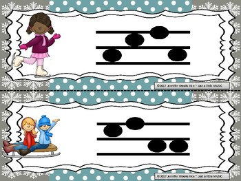"Winter Fun -- Melodic Reading ""Write the Room"" {sol mi la}"