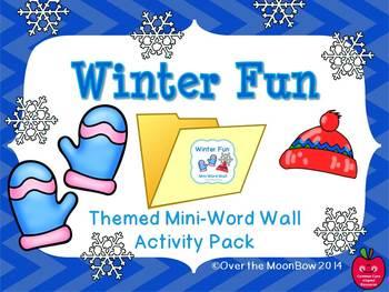 Winter Fun Mini-Word Wall Activity Pack