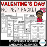 Valentine's Day NO PREP Language Homework Packet (Distance Learning)