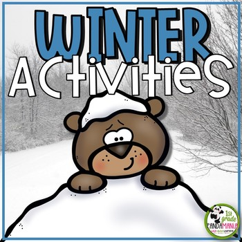 Winter Fun Pack Grades 1 and 2 Math and Literacy