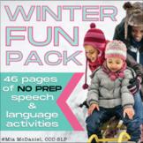 Winter Fun Pack | NO PREP Speech Language Therapy Activiti