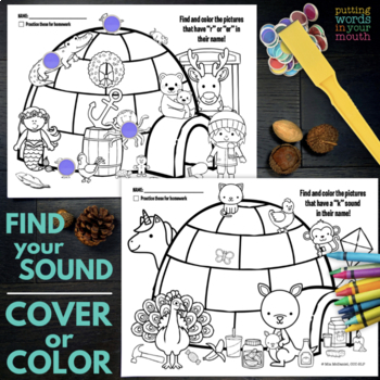 Speech and Language Therapy Activities & Homework - Winter Fun Pack