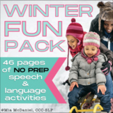 Speech and Language Therapy Activities & Homework - Winter