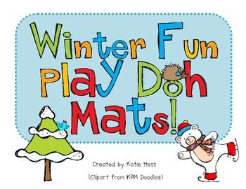 Winter Fun Play Doh Mats!