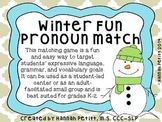 Winter Fun Pronoun Match *GREAT ELL RESOURCE*