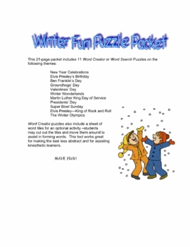 Winter Fun Puzzle Packet
