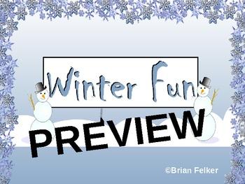Winter Fun SMART Notebook Activities