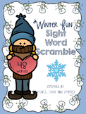 Winter Fun Sight Word Scramble - No prep!