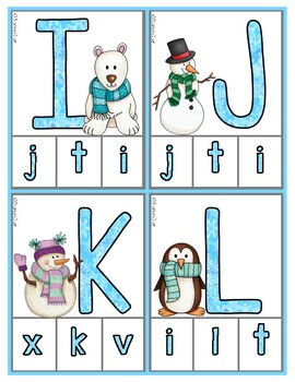 Winter Fun:  Snowman Matching Uppercase & Lowercase Letters