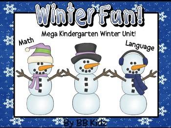 Winter Fun/ Snowman/ Math & Lang. Stations/ Roll and Cover/ Kindergarten