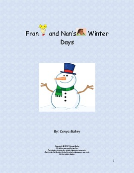 Winter Fun Story for Students with Autism