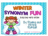 Winter Fun Synonyms - Black and White Version