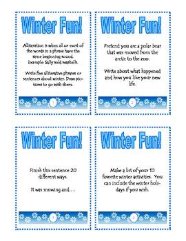 Winter Fun Task Cards