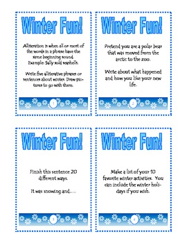 Winter Fun Task Cards