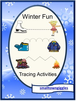Winter Tracing Activities, Fine Motor Skills Early Childhood