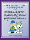 Winter Fun: Which Snowflake Is Left? Multiplication With Regrouping