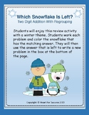 Winter Fun: Which Snowflake Is Left?  Two Digit Addition W