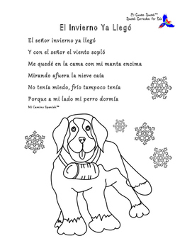 Winter Fun for Spanish Students! (Word Search, Puzzle & Poem)