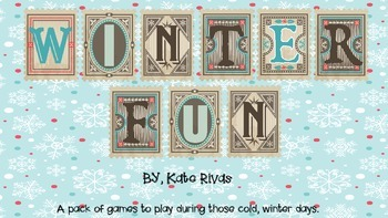 Winter Fun!  phonics games to play indoors