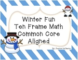 Winter Fun with 10 Frame Math