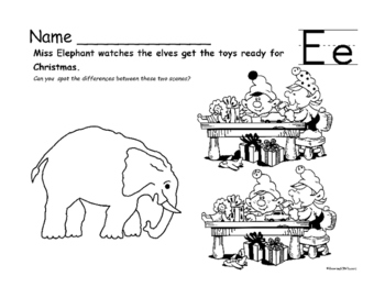 Winter Fun Worksheets with Animals Through the Alphabet