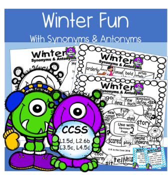 Winter Fun with Synonyms and Antonyms | TpT