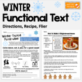 Functional Text Passages: Winter Themed Directions, Recipe, Flier