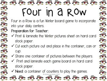 Four in a Row - Winter Game