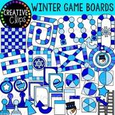 Winter Game Board Clipart {Creative Clips Clipart}