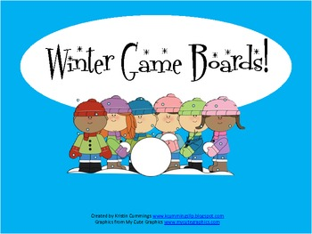 Winter Game Boards!