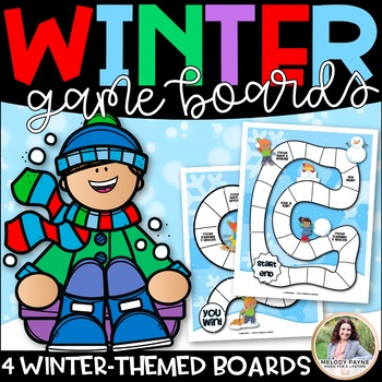 Winter Game Boards {Featuring Winter Sports, Kids, & Snow!}