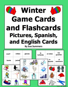 Spanish Winter Game Cards / Flashcards for Spanish or Any