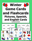Spanish Winter Game Cards / Flashcards for Spanish or Any Language