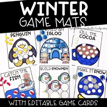 Winter Activities | Editable Winter Game Mats