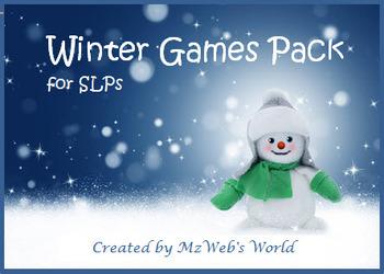 Winter Game Pack for SLPs