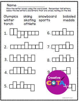 Winter Games 2018 Differentiated Worksheets and Activities