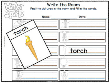 Winter Games and Sports Differentiated Worksheets and Activities