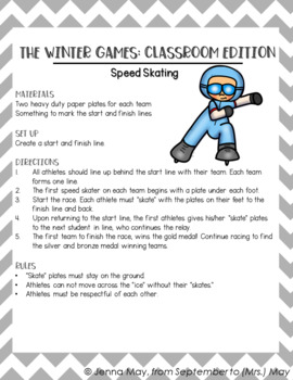 Winter Games 2018 Freebie - Sample of My Full Unit!