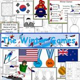 Winter Games 2018 Pyeongchang pack- displays, maths, writing- Olympics