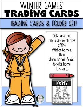 Winter Games 2018 {Trading Card & Folder Set} for Kindergarten & First Grade