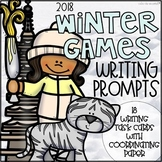 Winter Games 2018 Writing Prompt Cards and Paper Bundle